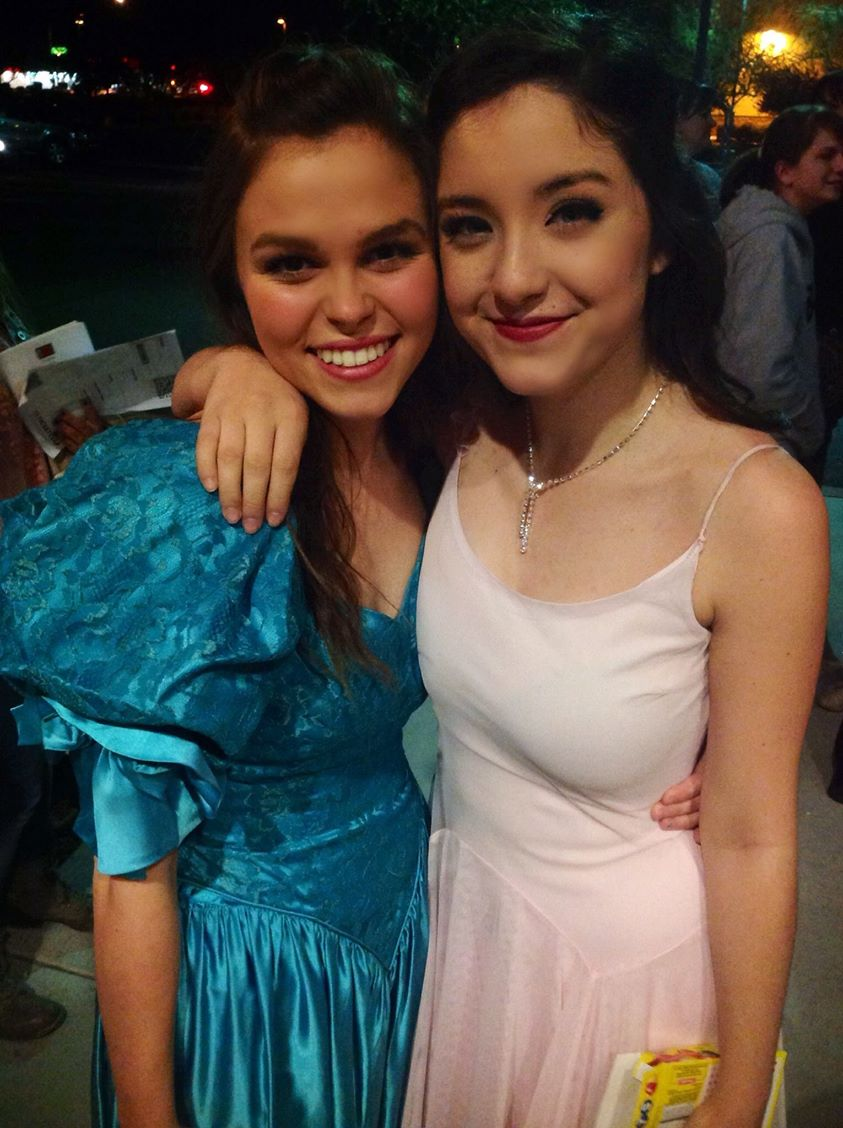 2015. Summer Farnsworth and Jessie Jo Pauley are all dolled up for a party,