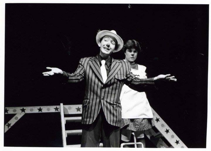 3rd Street Theatre. 1983. Aesop's Fables. Jo Lopez Powell, director. Keith Wick, Johanna Carlisle. (Photo credit unknown)