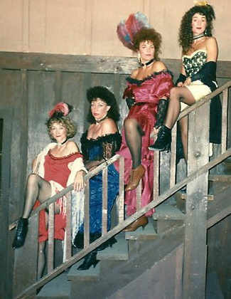Linda DeArmond, Deborah Lippmann, Karen Kearney and Maria, proving that you don't need to know the name of the play.