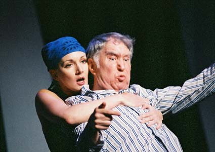 """Natalie Messersmith and Benjamin Stewart in 2003's """"Cat on a Hot Tin Roof."""" The late Mr. Stewart was one of the greatest actors to ever make the Valley his home. (Photo courtesy of Janet Arnold.)"""