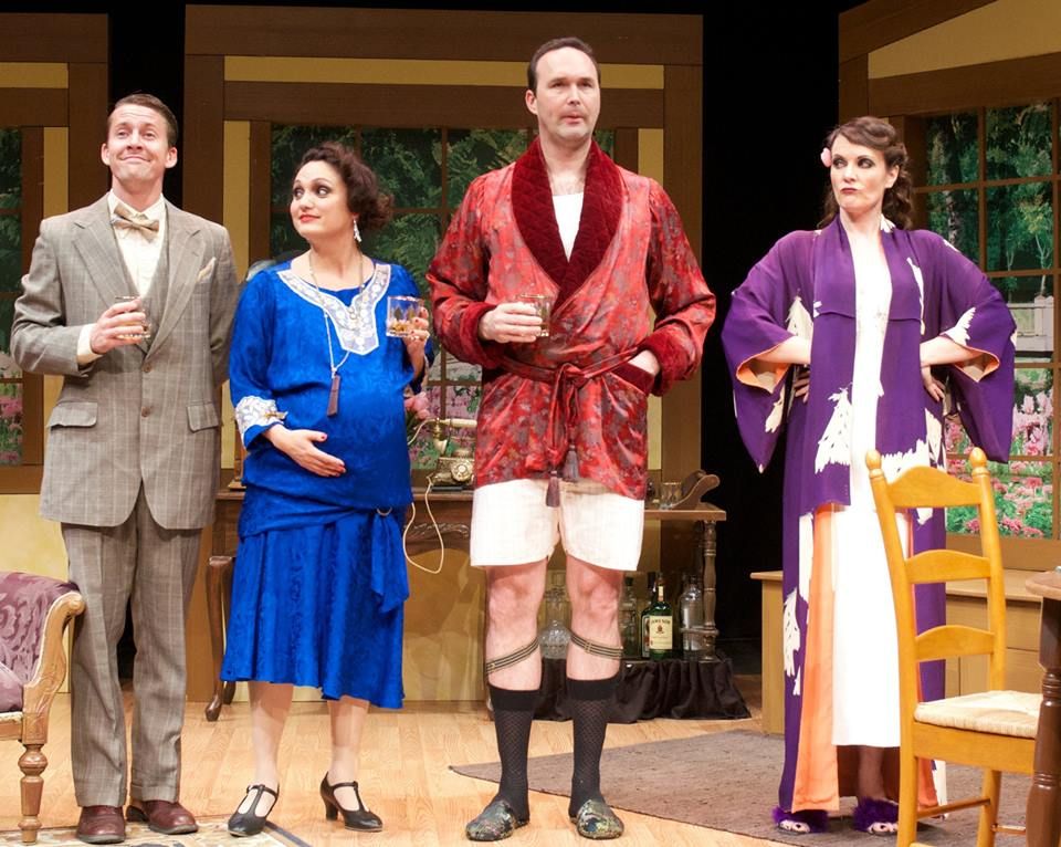 "Tyler Eglen, Angelica Howland, Joseph Kremer and Maren Maclean in ""The Cottage,"" Summer, 2014. (Photo by John Groseclose)"