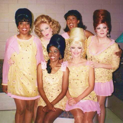 """This was the remount of the 1990-91 production of """"Beehive."""" The musical revue has become legendary, not the least for its cast: Kathy Fitzgerald, Robyn Ferracane, Ellen Benton, Maria Amorocho, Ehran Patton and Katherine Todd. (Photo credit unknown)"""