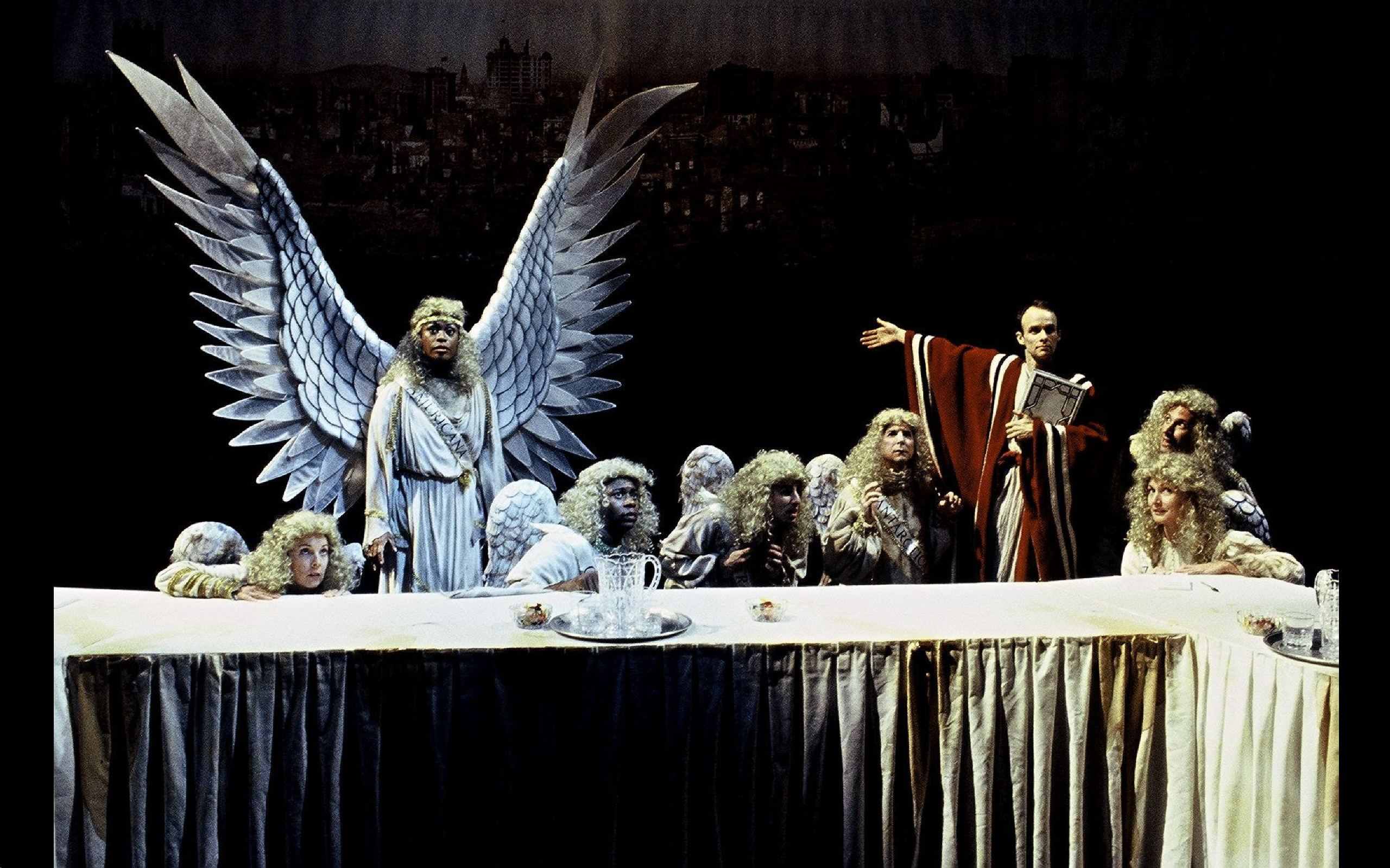Actors Theatre. 2002. Angels in America - Millennium Approaches and Perestroika. Cathy Dresbach, Lillie Richardson, Alvin Keith, Christopher Williams, Jon Gentry, Oliver Wadsworth, Natalie Inglish Nesbitt and Rusty Ferracane.
