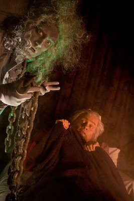 """Actors Theatre creates an original musical adaptation of Charles Dickens' """"A Christmas Carol,"""" written by Valley playwright Michael Grady with music by Alan Ruch. Pictured: Mace Archer (left) as the ghost of Jacob Marley and Edward Prostak as Ebenezer Scrooge in 2008."""