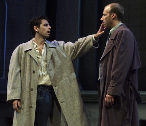 """""""Angels in America: Millennium Approaches,"""" directed by Matthew Wiener, becomes a huge hit for Actors Theatre. Pictured: Christopher Williams (left) as Prior Walter and Rusty Ferracane as Joe Pitt."""
