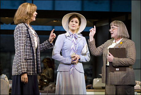 "Allison Janney, Stephanie J. Block and Kathy Fitzgerald in Broadway's ""Nine to Five."" (Photograph, Joan Markus)"