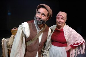 "Chez Mena is Tevye and Maria Amorocho is Golde in ""Fiddler on the Roof"" at Arizona Jewish Theatre Company. (Photo credit unknown)"