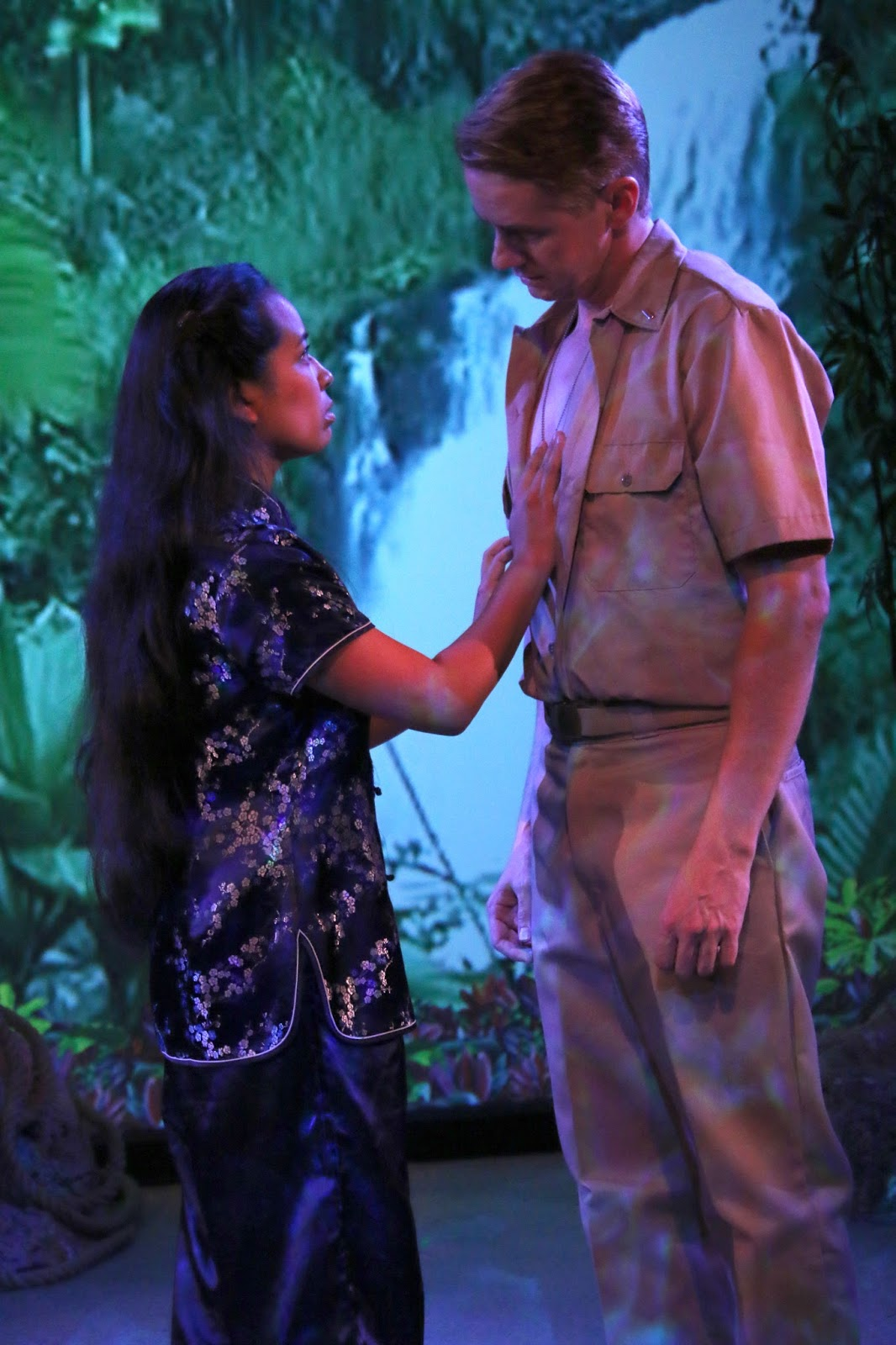 Fountain Hills Theatre. 2015. South Pacific. Chelsea Umeda as Liat and Chris Fidler as Lt. Cable. (Photo courtesy of the theater)