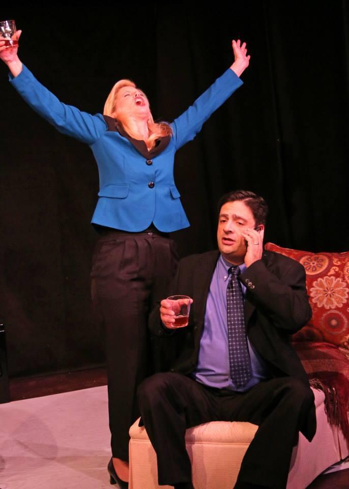 """Fountain Hills Theatre, """"God of Carnage,"""" 2013-2014 Season. Diane Nieman Senffner, Scott Hyder."""