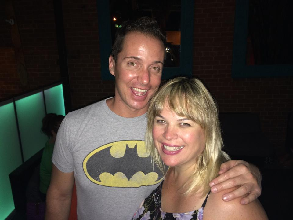 Ian Christiansen and Anne-Marie O'Reilly at The Bar on Central. (Photo from the Facebook page of Ian Christensen)