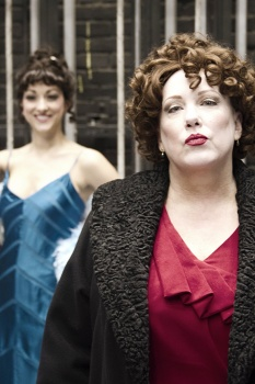 "Jenny Hintz was Gypsy Rose Lee and Kathy Fitzgerald was Mama Rose in Phoenix Theatre's production of ""Gypsy."""