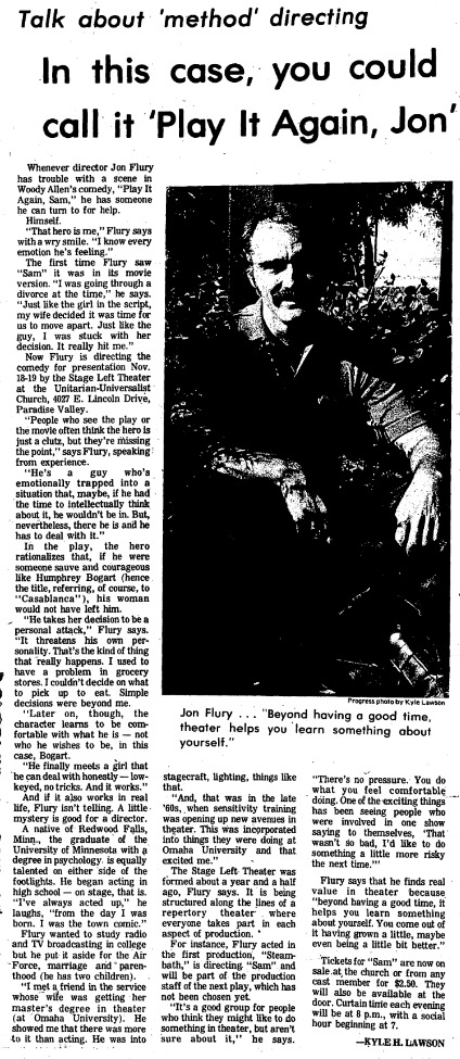 Clipping from The Scottsdale Daily Progress, November 1977.