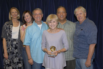 "In 2010, Actors Equity gave its Arizona Theatre Service Award to Judy Rollings, beloved co-founder of Actors Theatre of Phoenix, now Actors Theatre.  Judy is seen with Phoenix/Tucson Liaison Committee members Elaine ""E.E."" Moe, Maren MacLean, Tony Hodges, Charles St. Clair and Larry Soller."