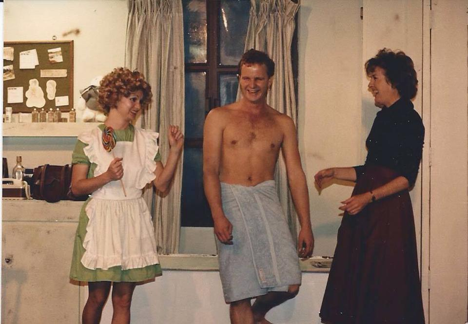 "Max's Dinner Theater.Copper State, ""Accommodations,"" 1984, Lee Marie Kelly, David Weiss, Jacqueline Gaston"