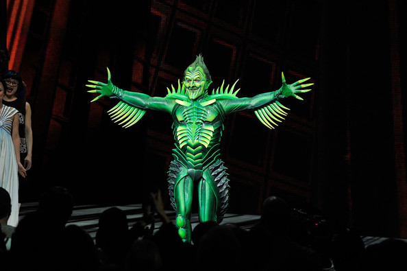 """Patrick receives a standing ovation for his Green Goblin in the controversial """"Spiderman"""" musical."""