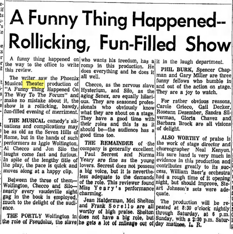 Review from the May 5, 1965 Phoenix Gazette.