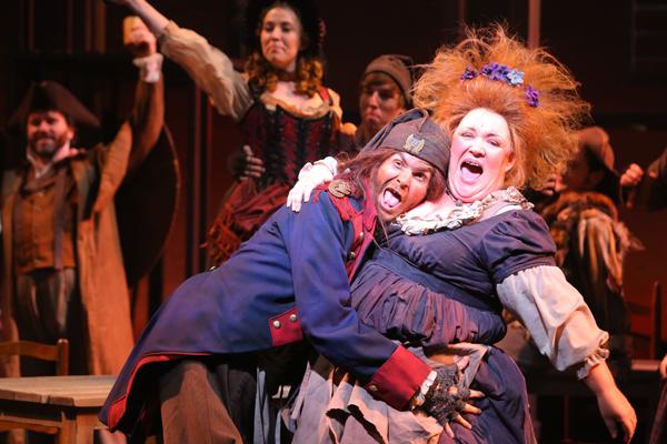 Phoenix Theater Les Miz 2014 Michael Sample, Terey Summers (Photo by Sara Chambers)