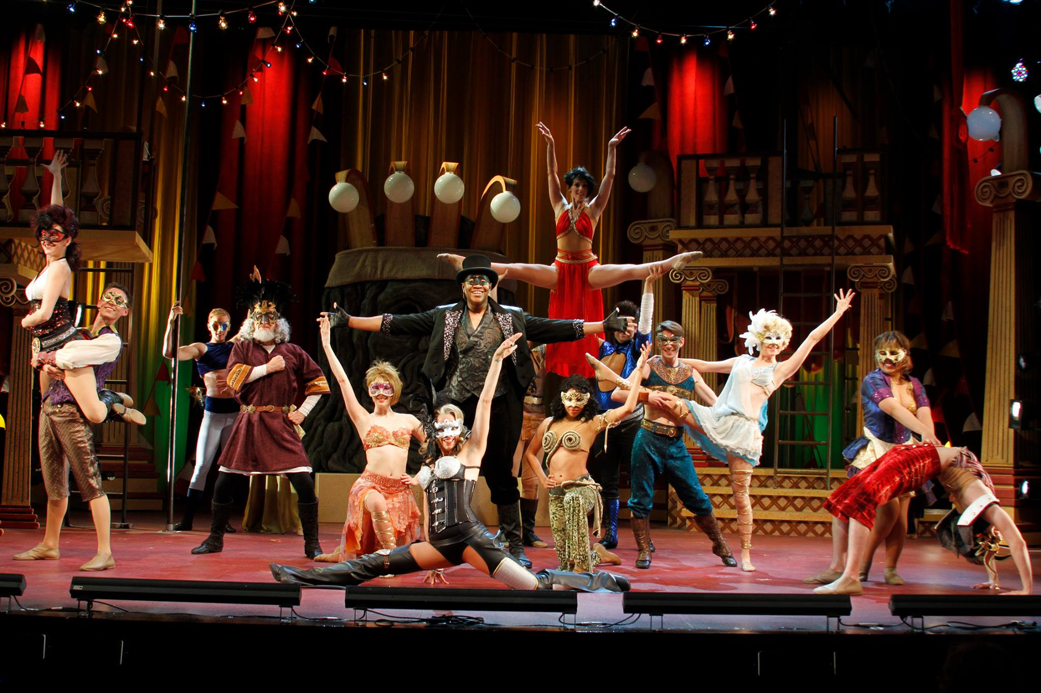 """The cast of """"Pippin"""" makes the most of the circus setting. (Photo, Sara Chambers)"""