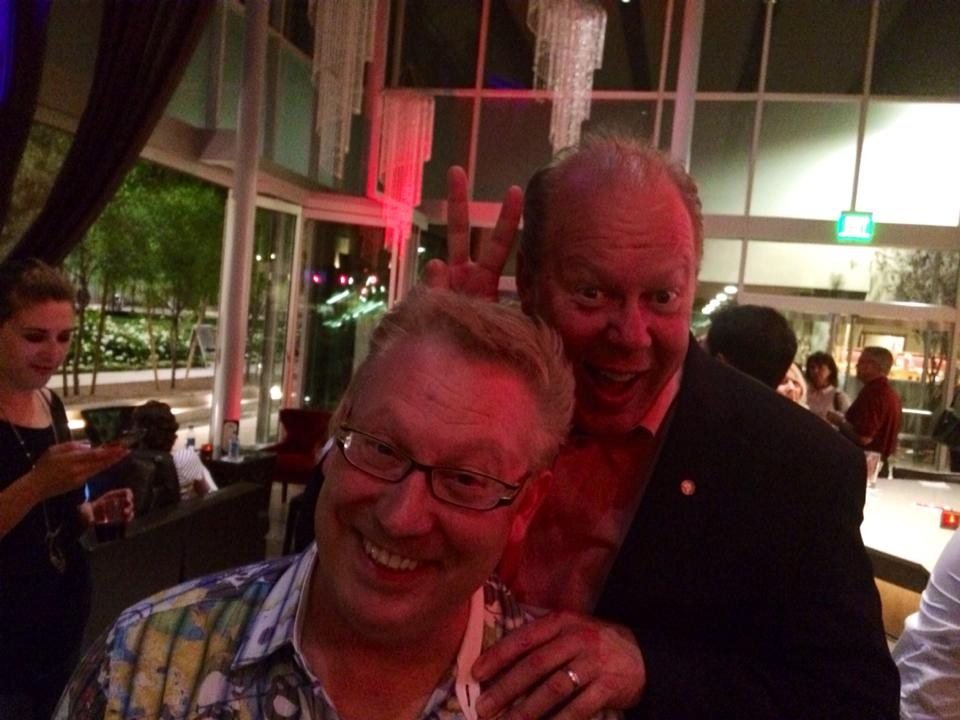 Michael Barnard and friend.