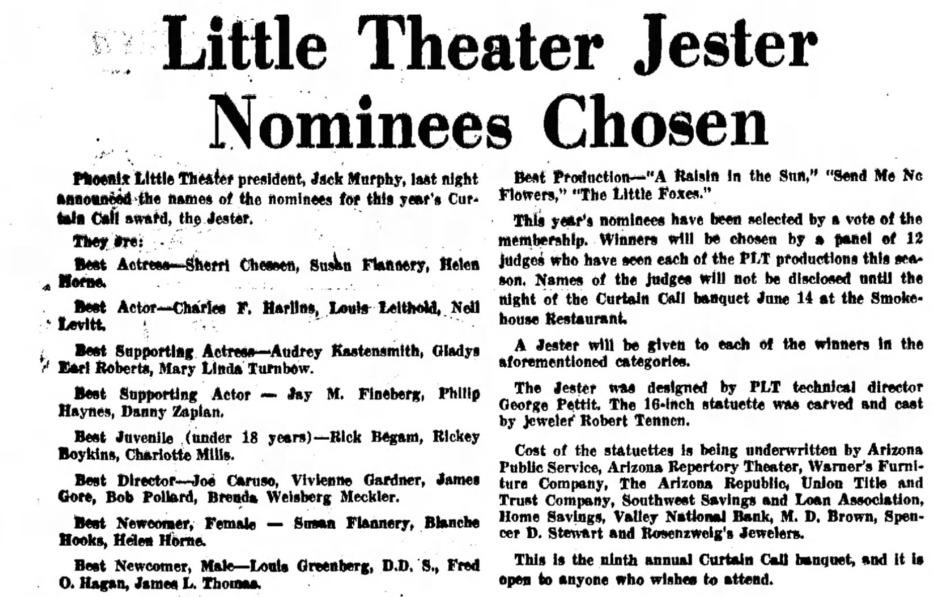 Phoenix Theatre Jester 1963 001