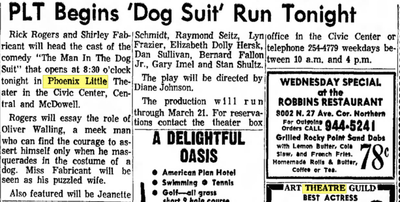 Newspaper Clipping from the Phoenix Gazette, March 10, 1965.