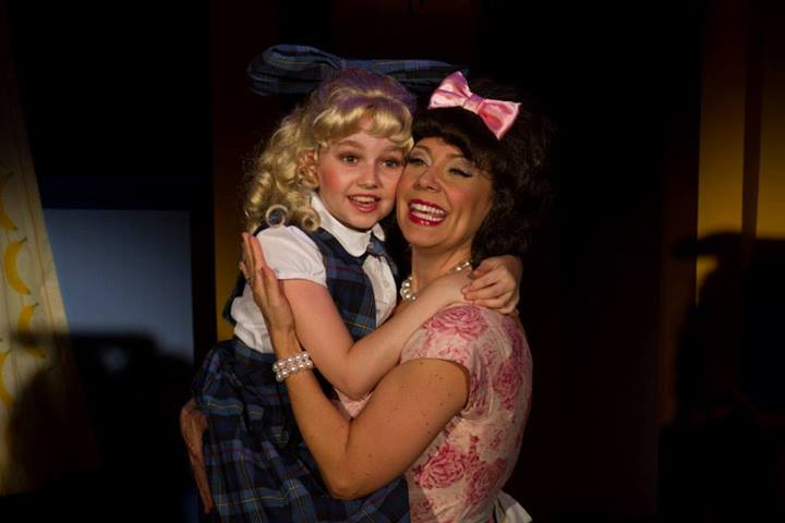 """Riley Glick is Tina and Debby Rosenthal is her mom in """"Ruthless: The Musical."""""""