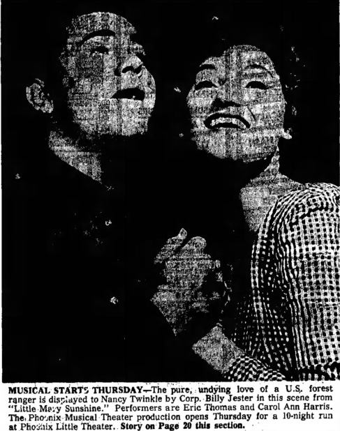 Phoenix musical theatre, 1963, little mary sunshine 001