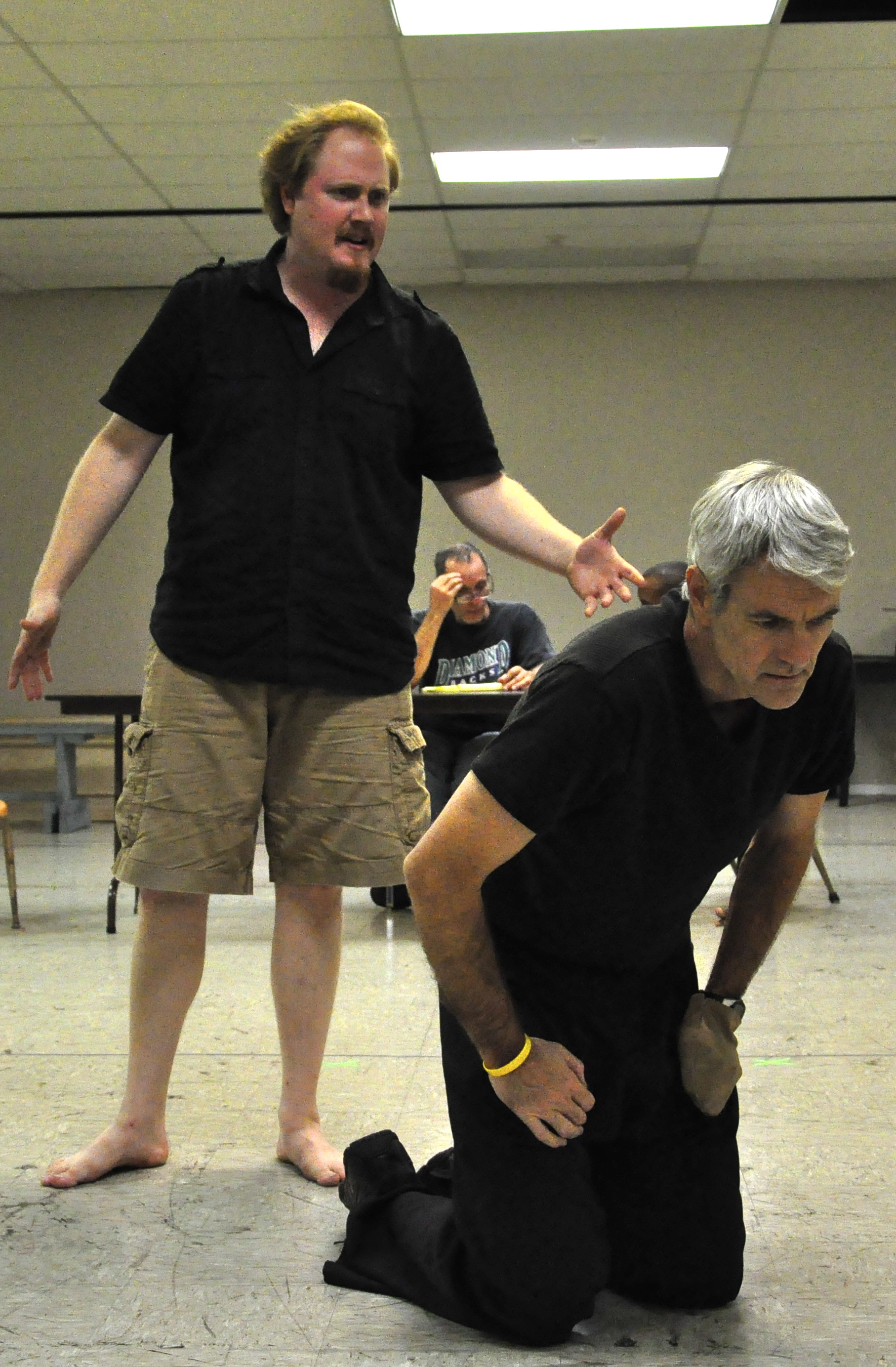 Randy Messersmith recreates his role of Titus Andronicus in the 2011 production at Southwest Shakespeare Company, a troupe he co-founded with friend Kevin Dressler. (Also pictured, Jesse James Kamps.)