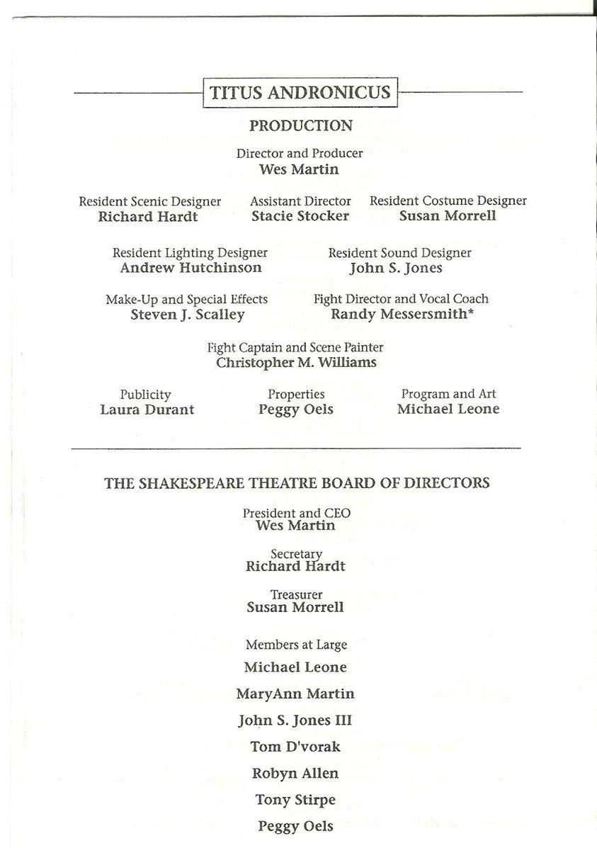 Shakespeare Theatre, Titus Andronicus 001