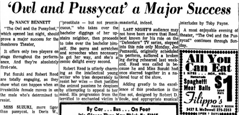 Sombrero Playhouse, 1963, The Owl and the Pussycat. 001