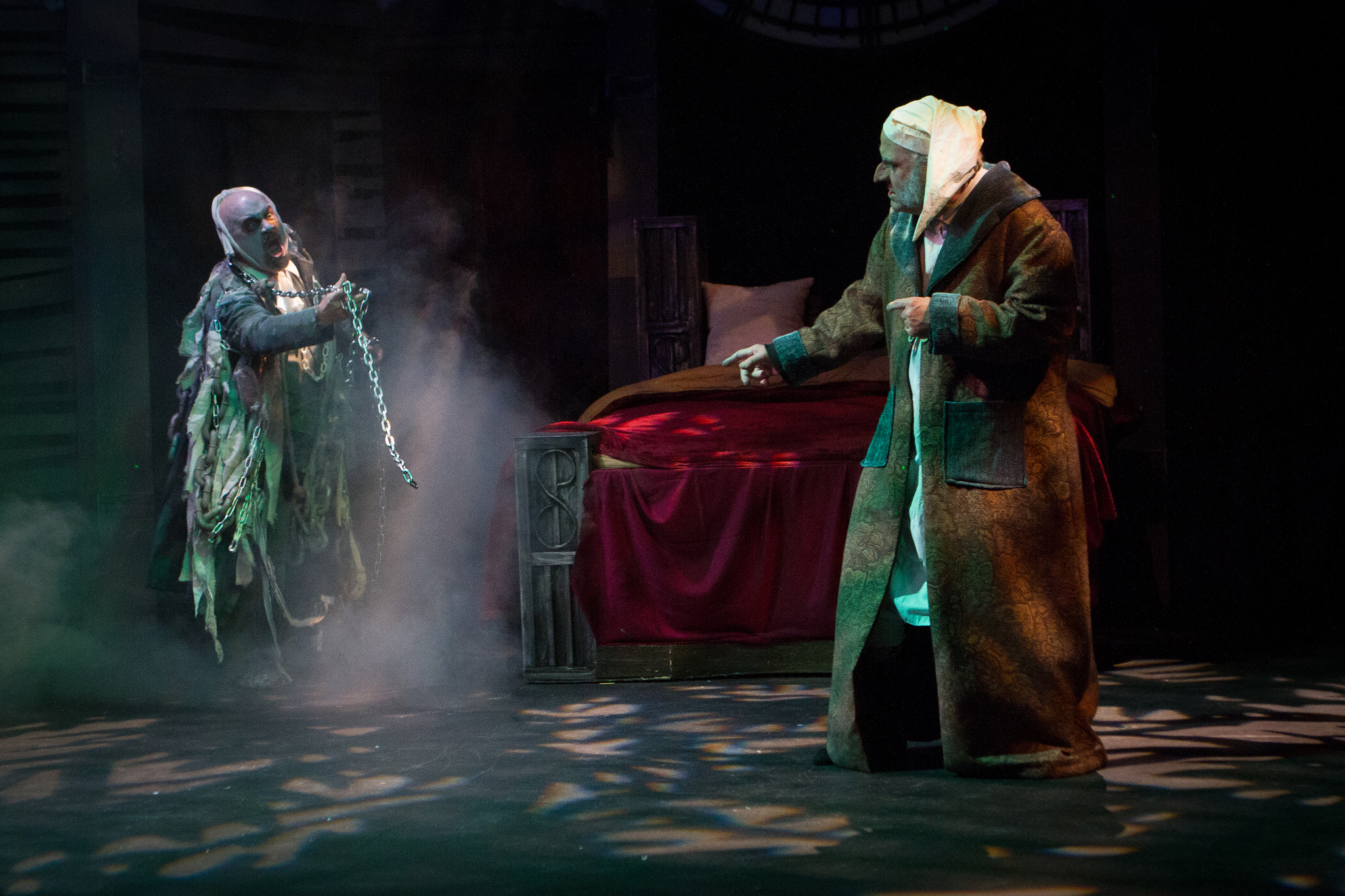 """Marley and Scrooge face off in """"A Christmas Carol."""""""