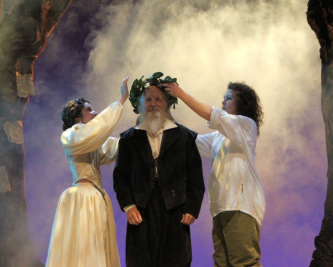 """Jim Coates (center) in the 2008 production of """"As You Like It."""" (Photo Credit Unknown)"""
