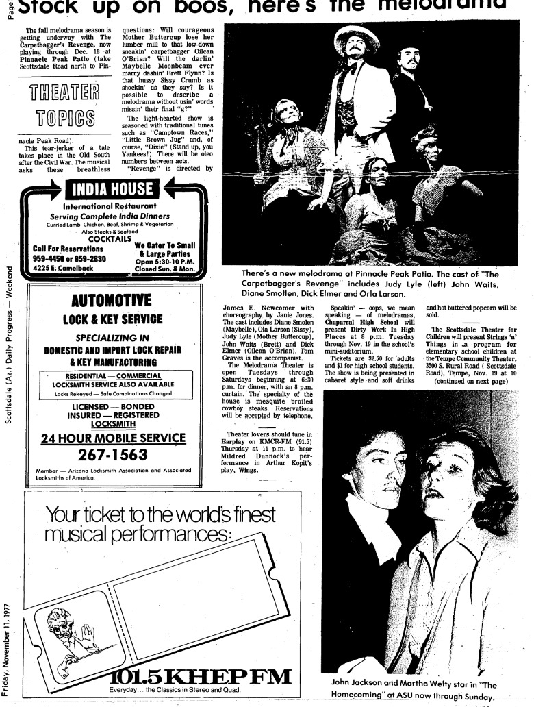 Theater Topics, Nov. 11, 1977