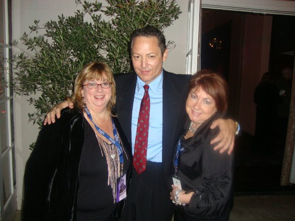Wendy Leonard, left. with Dodd Darin, son of Sandra Dee and Bobby Darin, and Ellen Teitelman Wohl.