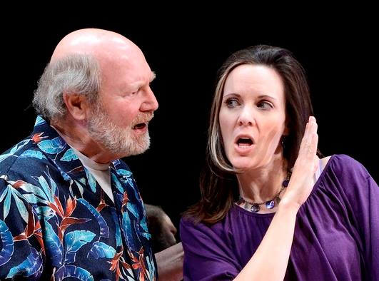 """David Vining and Maren Maclean in """"Circle Mirror Transformation"""" at Actors Theatre, 2011. (Photo by John Groseclose)"""