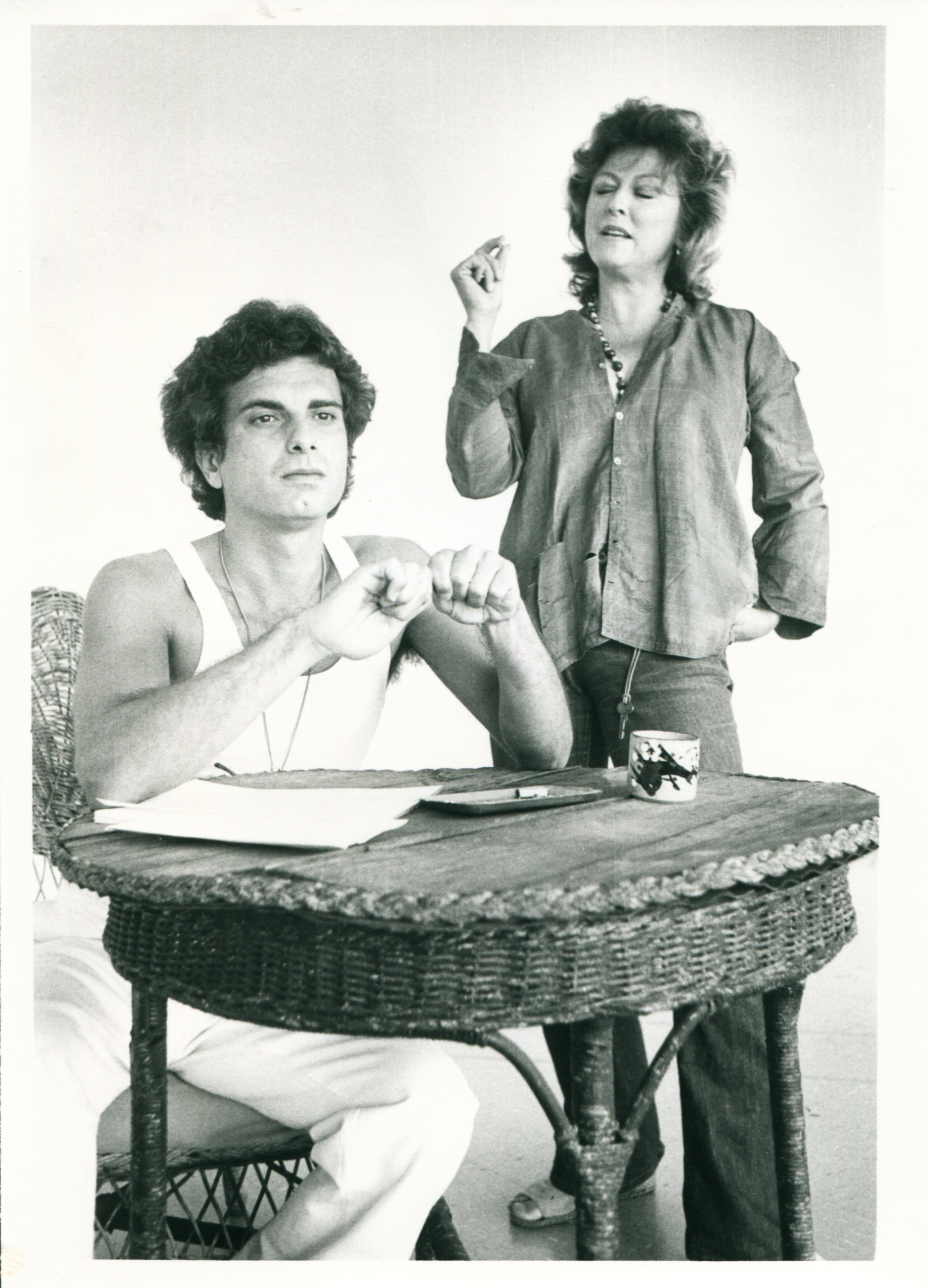 "Steven Mastroieni and Carolyn Paine in Tennessee Williams' ""The Night of the Iguana,"" at Phoenix Little Theatre. (Photo courtesy of Steven Mastroieni)"