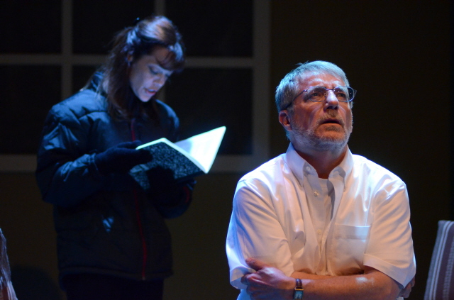 """Lesley Ariel Tutnick and Tony Hodges in """"Proof."""" (Photo by Mark Gluckman)"""