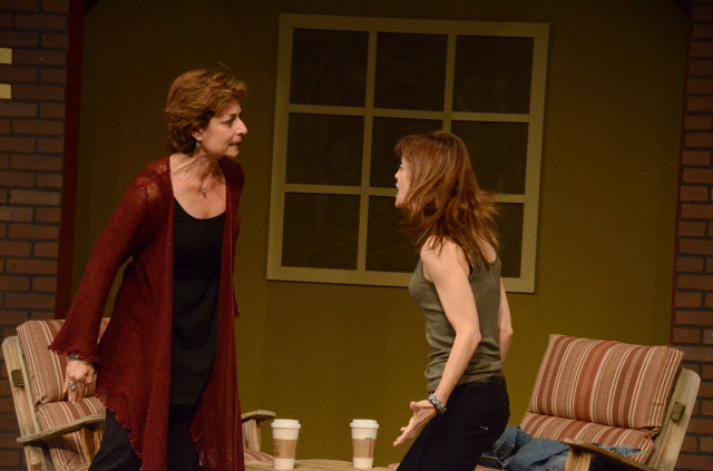 """Andrea Dovner and Lesley Ariel Tutnick in """"Proof."""" (Photo by Mark Gluckman)"""