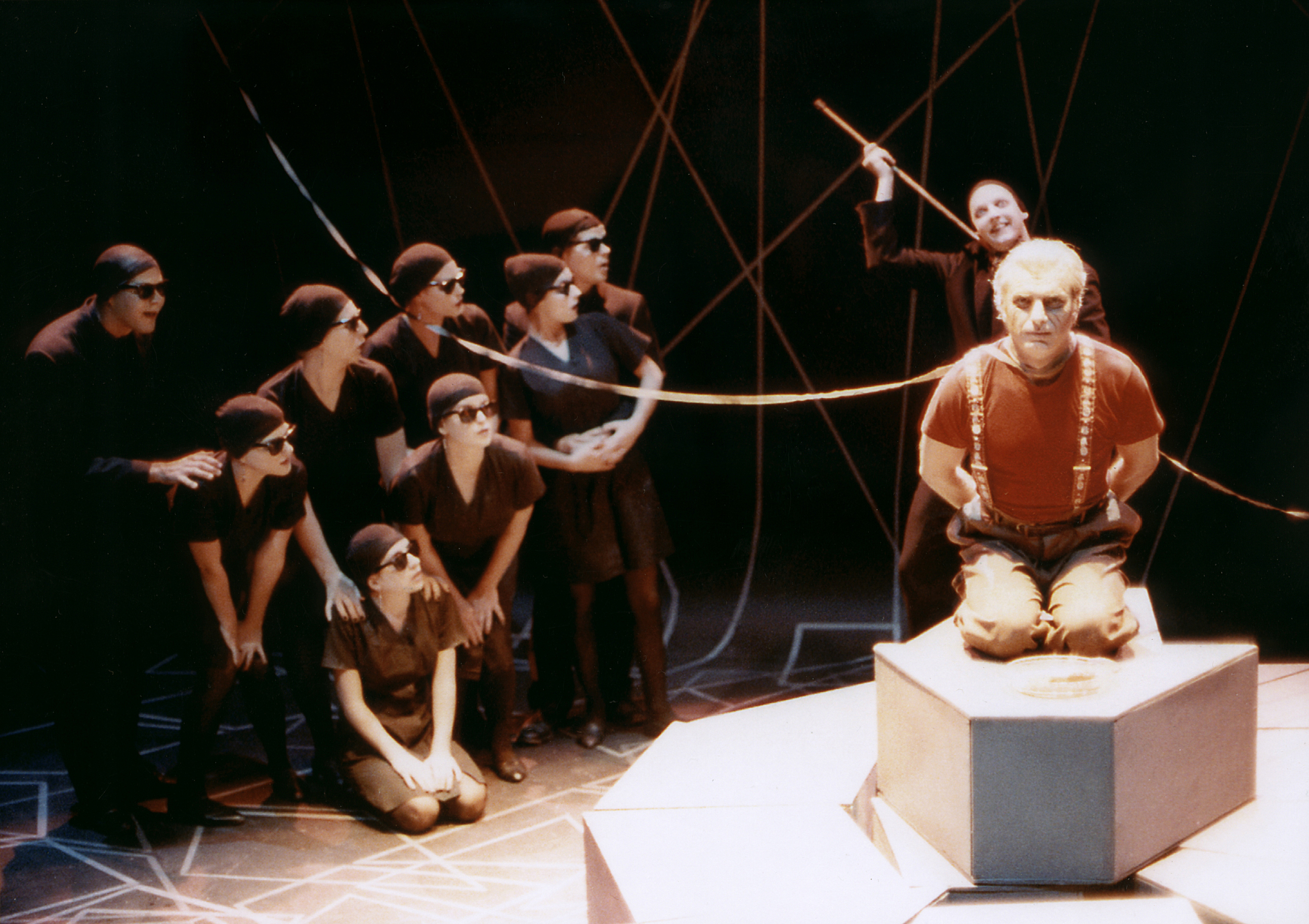 "Steven Mastroieni (right) in ""The Adding Machine"" at ASU. (Photo from the collection of Steven Mastroieni)"