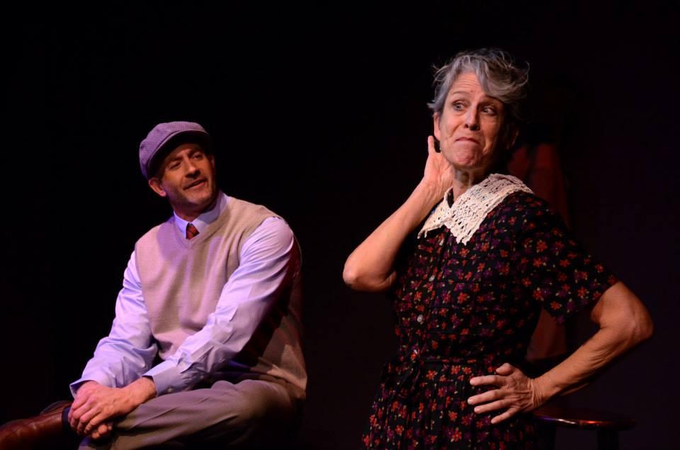 "Matt MacDougall, Cynthia Elek, Theatre Artists Studio, ""Cabaret,"" 2013. (Photo by Mark Gluckman)"