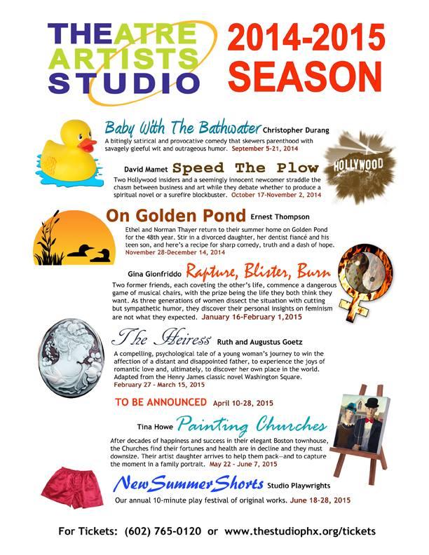 theatre artists studio 2014-2015 season.