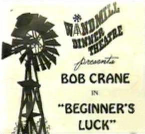 "The Windmill Dinner Theatre program for ""Beginner's Luck."""