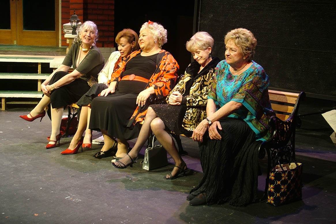 "Starring in ""The Oldest Profession,"" a 2008 production at Algonquin Theatre, are, from left, Jacqueline Gaston, JoAnn Yeoman, Sharon Collar, Judy Rollings and Barbara McGrath. (Photo Credit Unknown)"