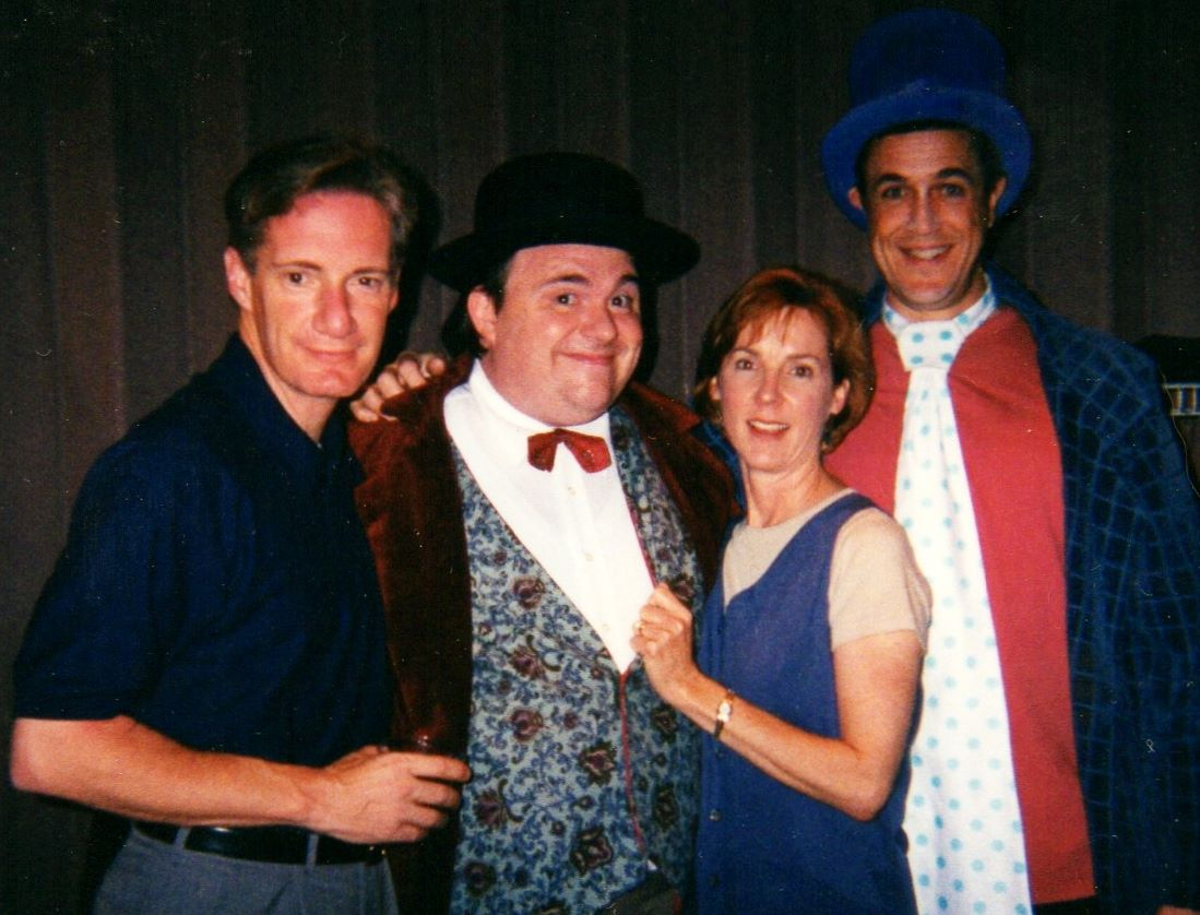 """Bob Sorenson, Wes Martin, Cathy Dresbach and Hamilton Mitchell in """"The Wallace & Ladmo Show"""" at Desert Foothills Theatre (Photo Credit Unknown)"""