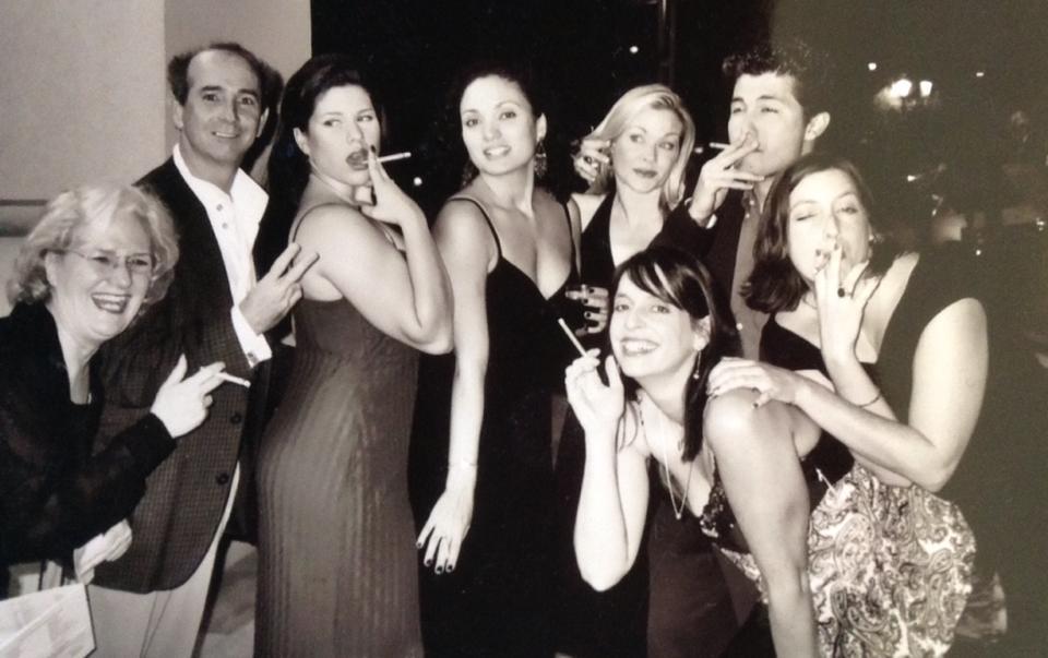 2003 ariZoni awards. Janet Arnold, Jon Gentry, Andrea Morales De Castellano, Angelica Howland, Jodie Weiss, Katie McFadzen, Gordon Waggoner and an unidentified Tallulah Bankhead look-alike.