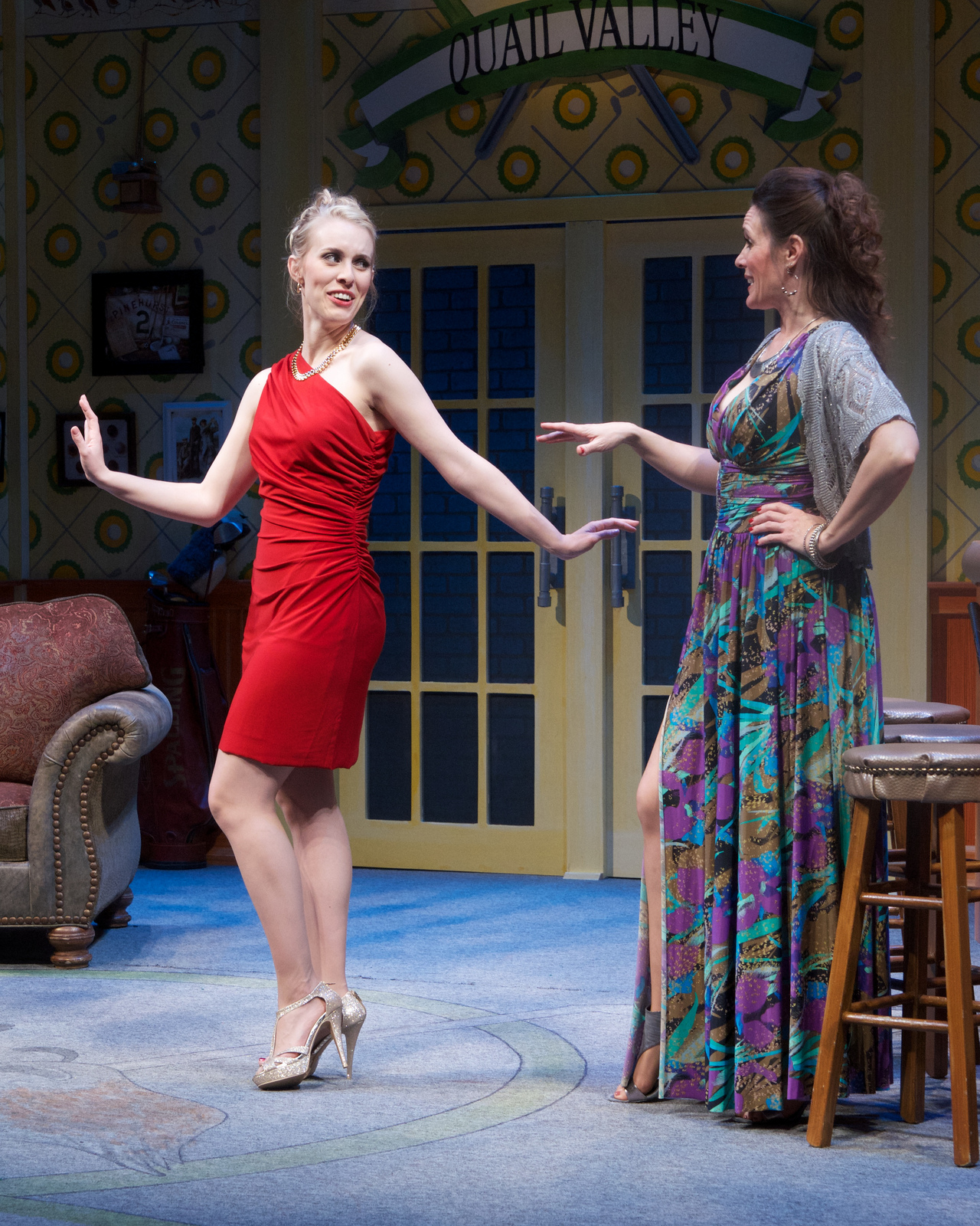 """Ashley Stults and Maren Maclean in """"The Fox on the Fairway."""" (Photo by John Groseclose)"""