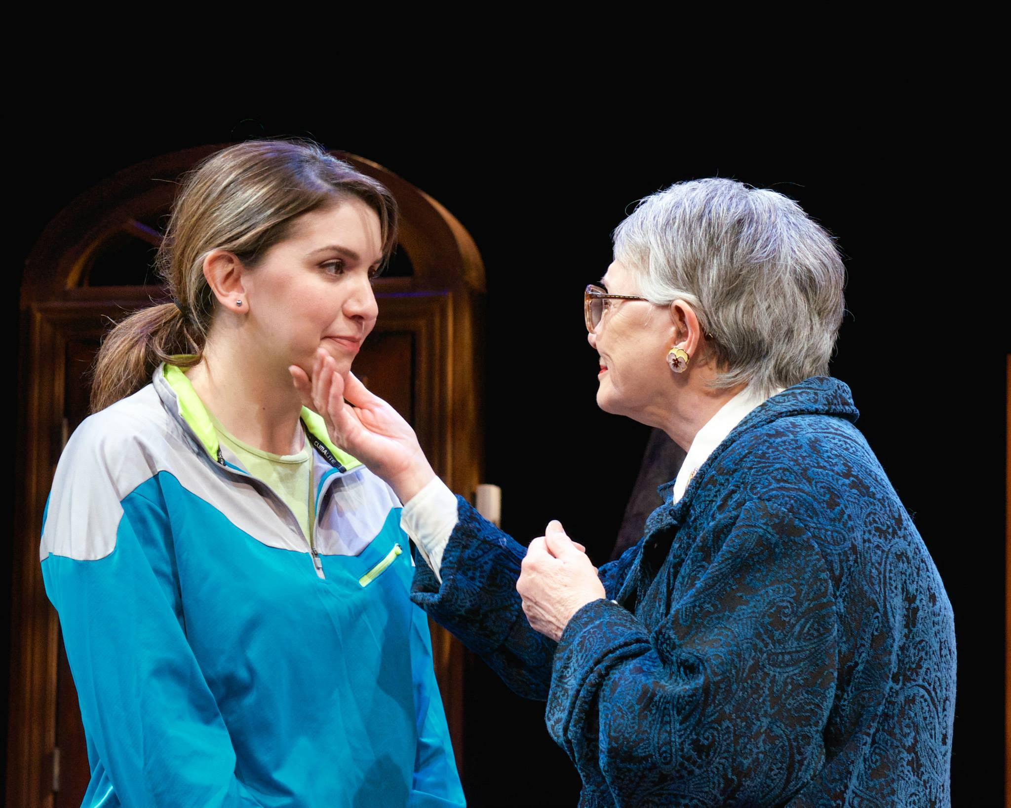 "Courtney Weir and Patti Davis Suarez in Actors Theatre's 2014 production of ""4000 Miles."" (Photo by John Groseclose)"