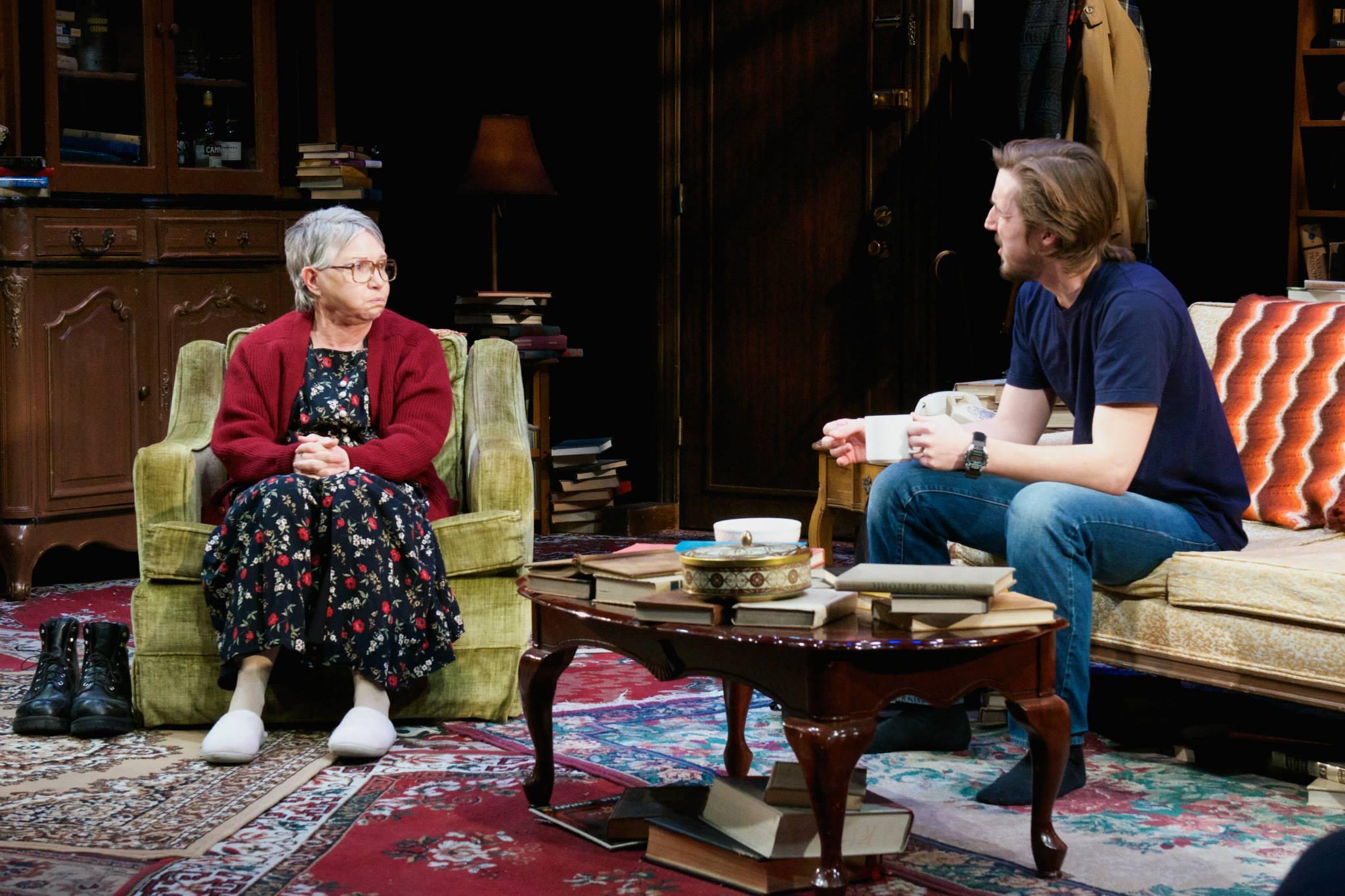 "Devon Nickel and Patti Davis Suarez in ""4000 Miles"" at Actors Theatre, 2014. (Photo by John Groseclose)"