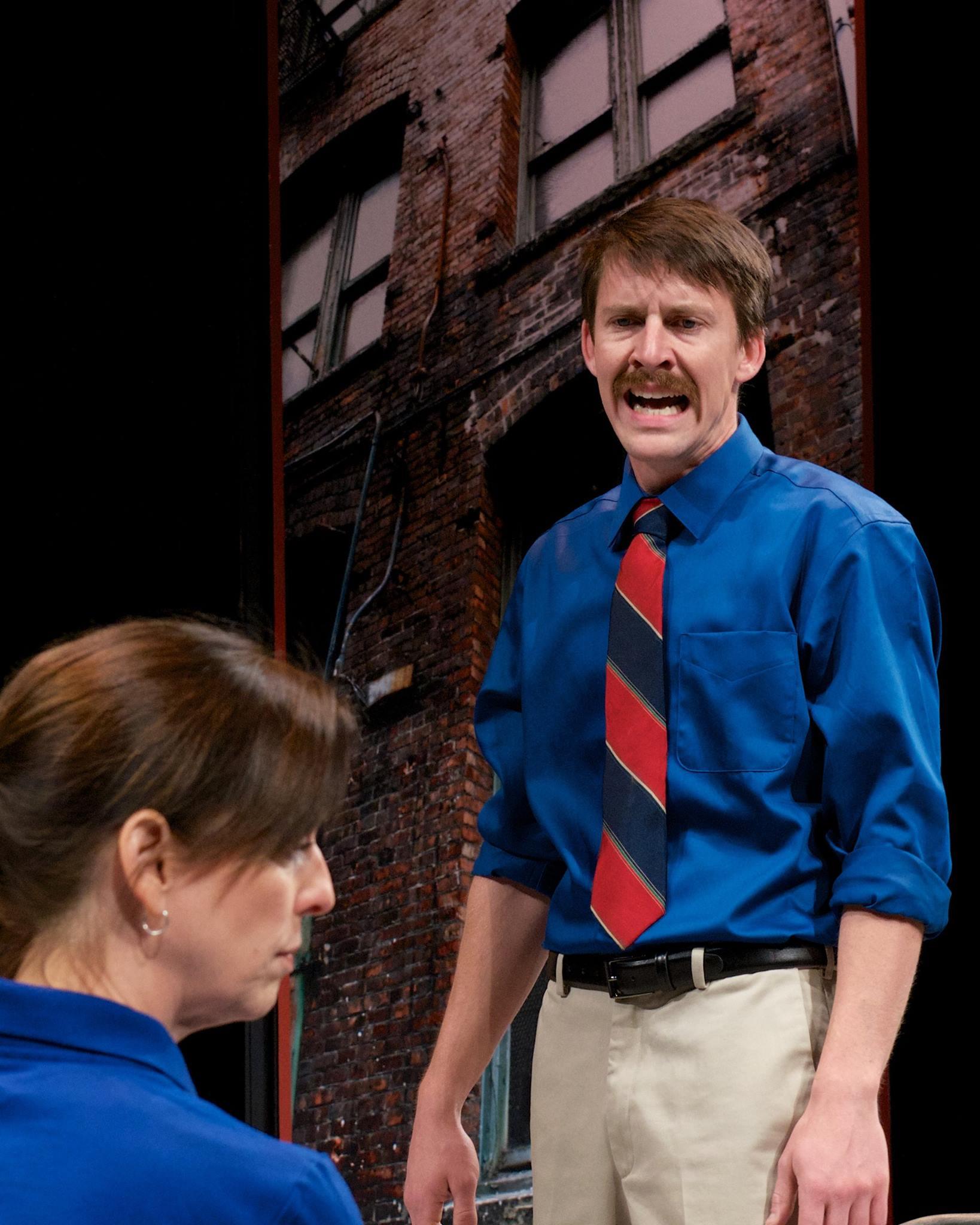 "Katie McFadzen and Tyler Eglen in ""Good People"" at Actors Theatre, May 2014. (Photo by John Groseclose)"