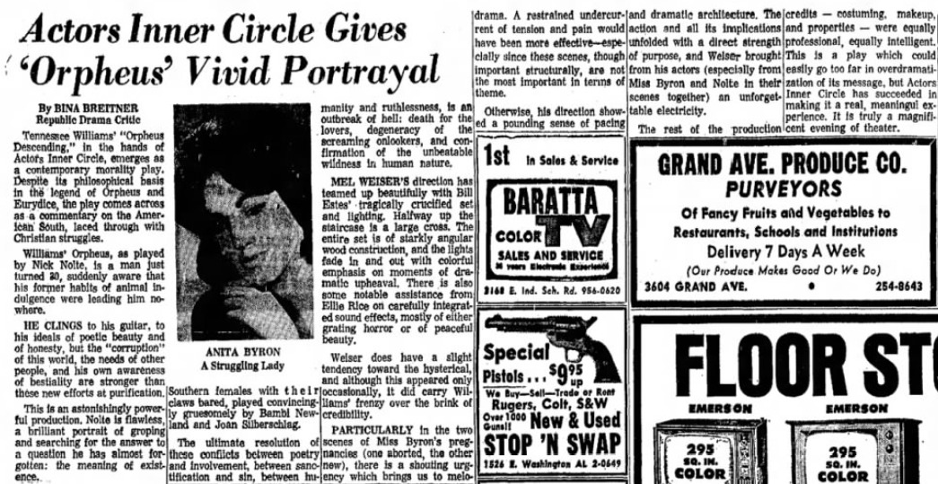 Actors inner circle 1968 Jan. 13, Orpheus A